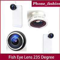 Wholesale ib F20 Universal Detachable Clip on Super degree Fish eye Lens for iphone5s Samsung GalaxyS4 HTC Sony amp digital camera