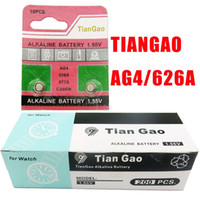 Wholesale TIANGAO Brand AG4 LR626 V Coin Battery for Watch etc Button Cell Batteries High Quality the Small Battery407