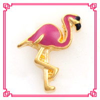 Wholesale New origami owl flamingo floating charms fit your living locket