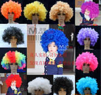 April Fool's Day afro wig costumes - Clown Wig Costume New Circus Curly Party Favors afro wigs Adult Costume Wig Hair