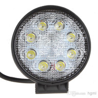 Wholesale IP67 Waterproof Lumen W High power X W Bead LEDs Round Offroad LED Working Light Car work Front Headlight CEC_423