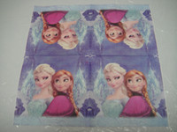 Wholesale frozen theme printing environmental friendly paper napkin inch cm birthday party festive wedding supplies
