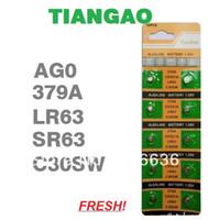 Wholesale AG0 SR63 SG0 A LR521 SR521 SR521SW SR63 C30S TIANGAO Cell Button Batteries ladies children watches LOT407