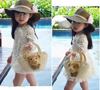 Wholesale girl flower creamy white skirt kid lace dress Korean Children Clothes Autumn baby dresses