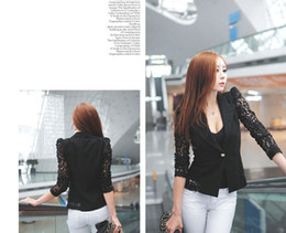 Wholesale 2014 summer new fashion lace suit jacket Slim Polly Kurtz
