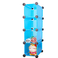 Wholesale Diy storage shelf bookshelf toy cabinet transparent plastic frame storage cabinet drawer