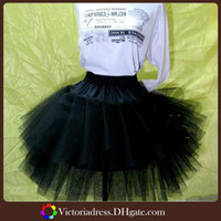 A-Line Polyester white black New Arrival Modern White Short Black petticoat Tulle Skirt Bridal Girls Wedding Dress Tulle Petticoats Made In China