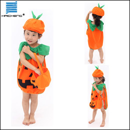 Wholesale halloween pumpkin costumes girls halloween costume child cosplay for halloween