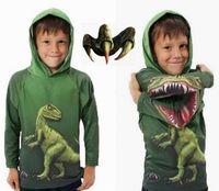 Wholesale Children Dinosaur Dino Hoodies Boys cartoon sweater pullover Children s Outerwear