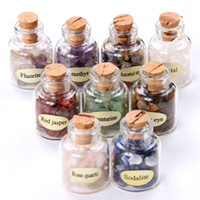 Wholesale 9 Mini Gemstone Bottles Chip Sz Crystal Healing Tumbled Gem Stones Reiki Wicca GC000