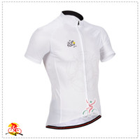 Tops Anti Bacterial Men Tour De France Pro Team Cycling Top Jerseys Short Sleeve Road Bike Clothing White Soft Riding Wear Compressed Bicycle Skinsuit