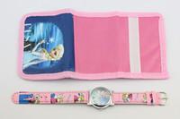EMS 50pcs Anna Elsa Sets Watch and Wallet Purse Kids Fashion...