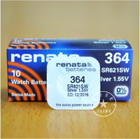 Wholesale Freeshipping renata Silver Oxide Watch Battery SR621SW RENATA AG1 SR621 Silver Oxide V pieces407
