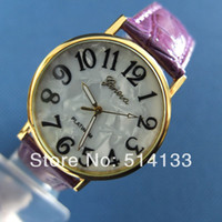 Unisex Auto Date Round 2014 new arrive fashion classic women leather geneva watch with Shell surface+ladies dress promotion gift watch unisex watches