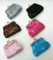 Wholesale and retail Sequins zero wallet mini coin purse zero wallet coin bag