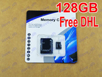 TF / Micro SD Card 128GB 200pcs Wholesale 128GB Micro SD Card Class 10 128 gb Micro SDHC TF Memory Card OEM ODM free adapter for Samsung Iphone 6 Smartphones 200pcs
