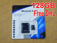 TF / Micro SD Card 128GB 200pcs DHL Wholesale 128GB Micro SD Card Class 10 128 gb Micro SDHC TF Memory Card OEM ODM free adapter for Samsung Smartphones ilove_dh 200pcs
