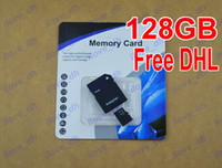 TF / Micro SD Card 128GB 50pcs Wholesale 128GB Micro SD Card Class 10 128 gb Micro SDHC TF Memory Card OEM ODM free adapter for Samsung iphone 6 Smartphones ilove_dh 50pcs