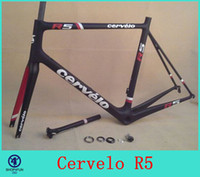Wholesale 2014 CEVERLO RCA Carbon Road Frame Cervelo R5 Frame carbon bike frame with fork seatpost clamp headset Racing Bicycle Frameset colors