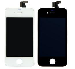 Iphone 4s conjunto completo en Línea-Pantalla LCD original para iPhone 4 4s Pantalla frontal Set Digitalizador Panel Asamblea completamente táctil Negro Blanco