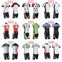 Wholesale 2014 Cycling Jerseys Collection Castelli Bike Wear Bib Pants Summer Short Sleeve Cycling Wear Bianchi Cycling Clothing ASSOS Trek Bike We