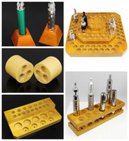 Wholesale Wood e cig display shelf case wooden electronic cigarette mod display shelf for e cigarette atomizer ego battery vaporizer ecig drip tip