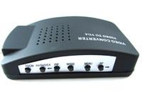 Bnc vidéo vga Prix-New CCTV S-vidéo BNC Vidéo Livraison gratuite sur PC moniteur VGA Convertisseur Adaptateur Box Conversion