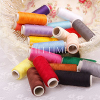 Wholesale 24 Colors Finest Quality Polyester Spool Cord String Sewing Machine Thread