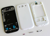 Wholesale Original i9300 housing cover Faceplates frame buttons screen lens case for Samsung Galaxy S III S3 i9300 cell phone