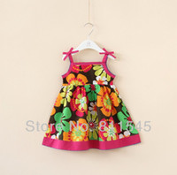 TuTu Summer A-Line Retail Fashion 2014 New Flower Print Child Dress for Girl Vestido Infantil Casual Summer Baby Wear Kids Clothes Toddler Clothing