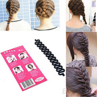 Wholesale 2014 Fashion French Hair Braiding Tool Roller With Hook Magic Hair Twist Styling Bun Maker Braider JH03013