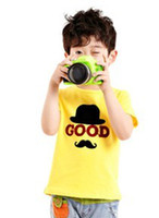 Wholesale Manufacturers selling brand children s clothing children s wear the spring new boy children s short sleeve T shirt towel embr