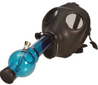Acrylic   DHL EMS FEDEX SHIPPING bong BONGS Gas Mask Water Pipe Sealed Acrylic Hookah Pipe Vaporizer Filter Smoking Pipe