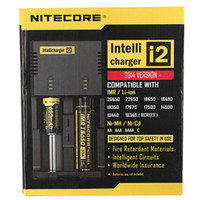 Wholesale Genuine Nitecore I2 Universal Charger for Battery E Cigarette in Muliti Function Intellicharger Rechargeable DHL