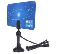 Wholesale Digital Indoor TV Antenna HDTV DTV HD VHF UHF Flat Design High Gain US EU Plug New Arrival TV Antenna Receiver HK888