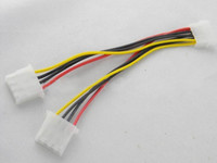 Wholesale pin IDE Power Supply Y Shape Splitter Cable cm Molex Extension Connector Cable
