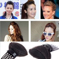 Wholesale 1PC Fashion Hot Women Hair Styling Clip Stick Bun Maker Braid Tool Hair Accessories Pad Puff Hair Princess Free JH02053