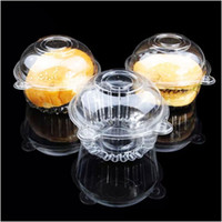 Wholesale 100Pcs Clear Plastic Muffin Single Cupcake Cake Container Case Dome Holder Box