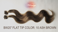 Cheap Chinese Hair HUMAN HAIR EXTENSIONS Best ASH Brown Body Wave U TIPS