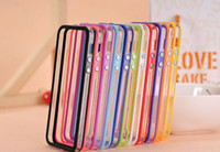 Wholesale TPU Bumper Frame Metal Button Case Cover for iphone S G th Gen five in Retail package