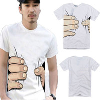 Wholesale Hot D big Hand Printed T SHIRT Funny Cool EFFETTO men women clothes casual tops
