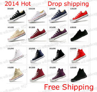Lace-Up Unisex Spring and Fall Free Shipping Siz35-45 Unisex Low-Top & High-Top Adult Women's Men's Canvas Shoes 13 colors Laced Up Casual Shoes Sneaker shoes shoe
