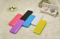 Power Bank External Portable Battery Universal USB to micro USB New 4000mAh Power Bank Mellow smooth Polymer colourful Portable External Battery Charger for Iphone 4 4s 5 5s Samsung Galaxy s4 s5 etc
