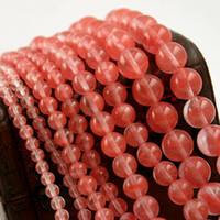 Wholesale Natural Gemstones Semi Precious Watermelon Red Stone Beads mm mm mm mm Round Loose Beads