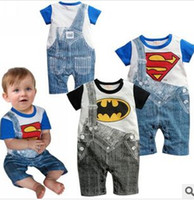 bebe clothing - Retail Superman Batman Baby Boy Rompers Intantil Coverall Jumpsuit Newborn Bebe Clothes Toddler Children Outerwear for Summer