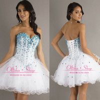 Reference Images tulle Sweetheart 2014 Cheap Homecoming Cocktail Dresses with Ball Gown Sweetheart Sleeveless Sexy Blue Beads Tulle Short Mini Party Gowns In Stock CPS051