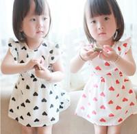 TuTu baby shorts patterns - 2017 Baby Clothing Lovely Cute Hearts Pattern Girls Dresses Puff Flouncing Sleeve Chiffon Skirts Girl Korean Party Dress Kids Childs J0684