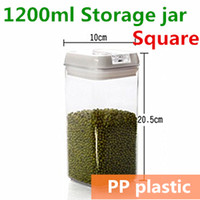 Wholesale 2014 New Plastic Canning Jars Sealing Jar Kitchen Storage and Organizer Ikea Novelty Households