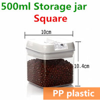 Wholesale 2014 New Plastic Jars and Lids Food Candy Storage Tea Container Caning Sealing Violetta Mason Jars
