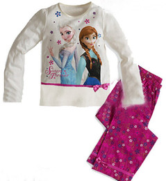 Wholesale New Frozen Princess children s clothing sets cut cartoon girls pajama sets toddler baby kids pijama sleepwear suit